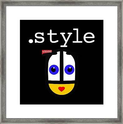 Black Style Ubabe Framed Print