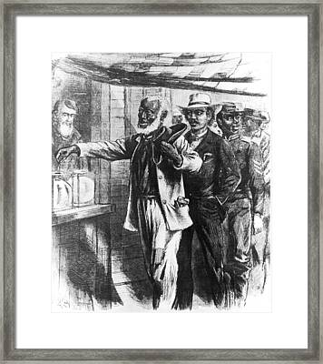 Black Voters Framed Print by Hulton Archive