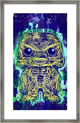 Creature From The Black Lagoon Pop Framed Print