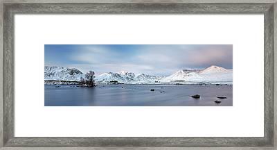 Framed Print featuring the photograph Blackmount Sunrise - Glencoe by Grant Glendinning