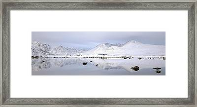 Framed Print featuring the photograph Blackmount Winter Sunrise - Glencoe by Grant Glendinning