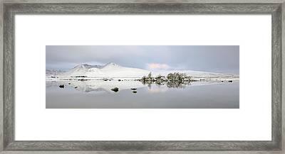 Framed Print featuring the photograph Blackmount Winter Sunrise - Glencoe - Scotland by Grant Glendinning