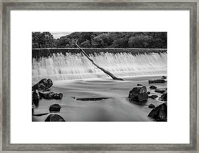 Framed Print featuring the photograph Blackstone River Xv  Bw by David Gordon