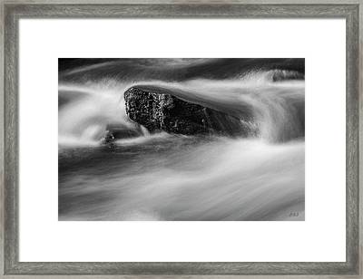 Framed Print featuring the photograph Blackstone River Xvi  Bw by David Gordon