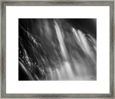 Framed Print featuring the photograph Blackstone River Xvii  Bw by David Gordon