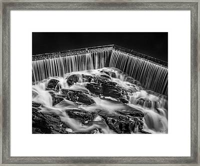 Framed Print featuring the photograph Blackstone River Xviii Bw by David Gordon