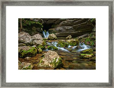 Framed Print featuring the photograph Blanchard Springs Headwater by Andy Crawford
