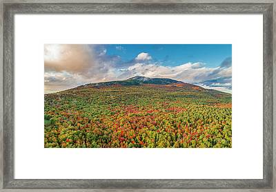 Framed Print featuring the photograph Blanketed In Color by Michael Hughes