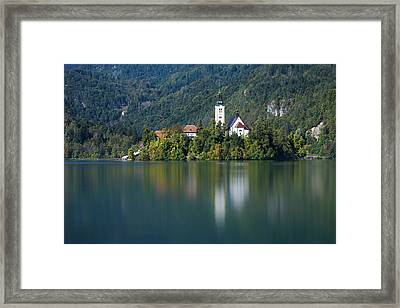 Framed Print featuring the photograph Bled Island by Davor Zerjav