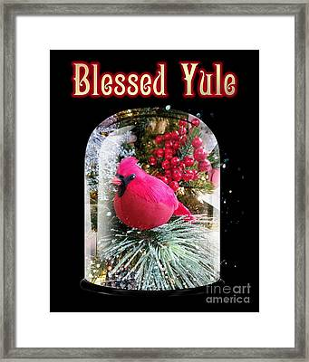 Framed Print featuring the photograph Blessed Yule by Rachel Hannah