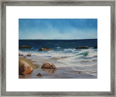 Block Island Surf Framed Print