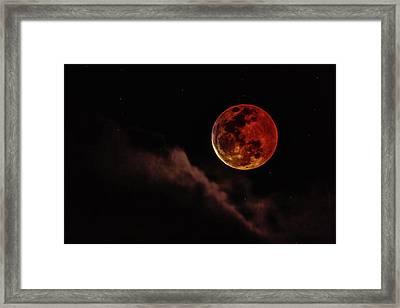 Blood Moon Rising Framed Print
