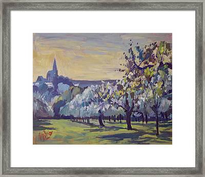 Blossom Trees Near Vijlen Framed Print