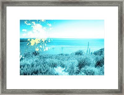 Blowing Sun Framed Print