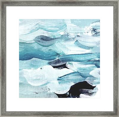 Framed Print featuring the painting Blue #13 by Maria Langgle