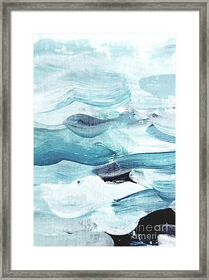 Framed Print featuring the painting Blue #14 by Maria Langgle