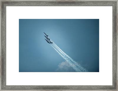 Framed Print featuring the photograph Blue Angel Rockets by Mark Duehmig