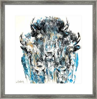 Blue Bison Framed Print