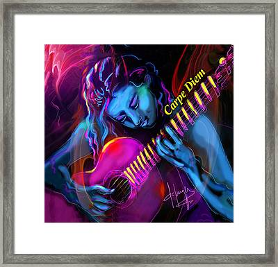 Blue Heart, Carpe Diem Framed Print