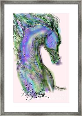 Blue Horse Painting Framed Print
