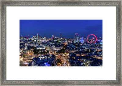 Framed Print featuring the photograph Blue Hour In London by Stewart Marsden