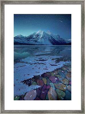 Blue Hour / Lake Mcdonald, Glacier National Park  Framed Print