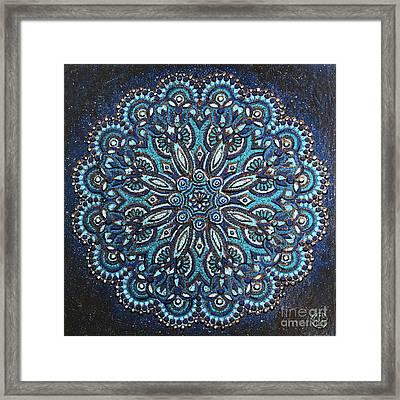 Blue Mandala Framed Print