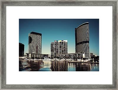 Blue Melbourne Framed Print
