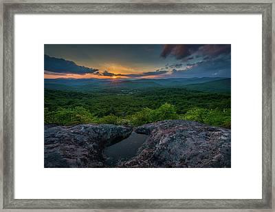 Blue Ridge Mountain Sunset Framed Print