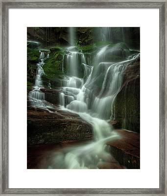 Blue Ridge Mountains Cascade Framed Print