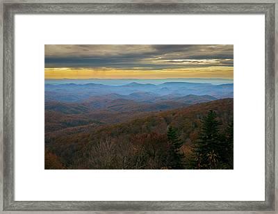 Blue Ridge Parkway - Blue Ridge Mountains - Autumn Framed Print