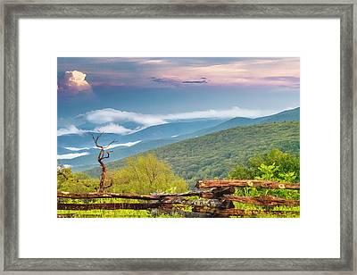 Framed Print featuring the photograph Blue Ridge Parkway View by Ken Barrett