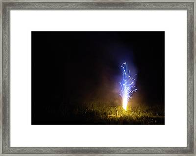 Framed Print featuring the photograph Blue Roman Candle by Scott Lyons