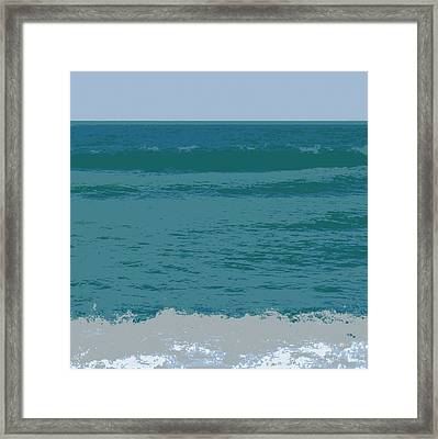 Framed Print featuring the digital art Blue Waters And Waves by Michelle Calkins
