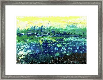 Blueberry Glen Framed Print