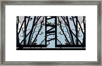 Blues - Barely Spring Abstract - Framed Print
