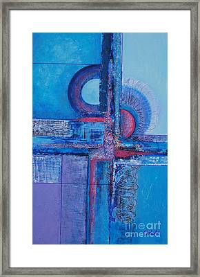 Blues With Purple Abstract Framed Print