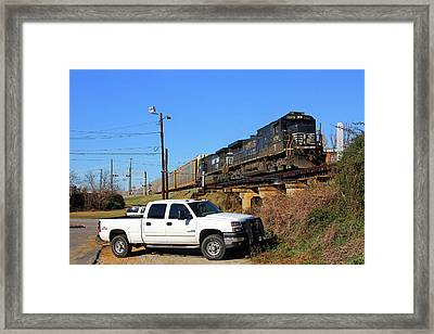 Framed Print featuring the photograph Bmw Train In Columbia 21 by Joseph C Hinson Photography