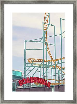 Framed Print featuring the photograph Boardwalk Summers - Santa Cruz California by Melanie Alexandra Price