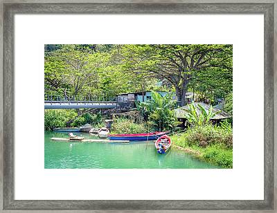 Boat And Rafting Tours Framed Print