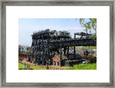 Boat Lift Framed Print