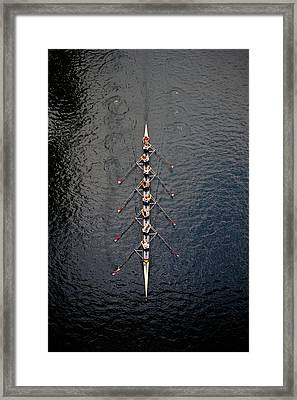 Boat Race Framed Print by Fuse
