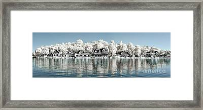 Boathouse Row Infrared Framed Print by Stacey Granger
