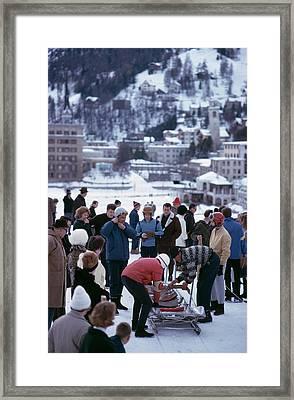 Bobsledding In St. Moritz Framed Print by Slim Aarons