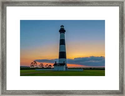 Framed Print featuring the photograph Bodie Island Lighthouse, Hatteras, Outer Bank by Cindy Lark Hartman