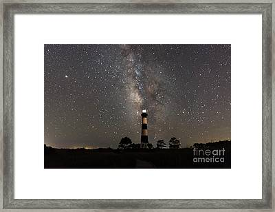 Framed Print featuring the photograph Bodie Island Lighthouse Starring The Milky Way by Terry Rowe