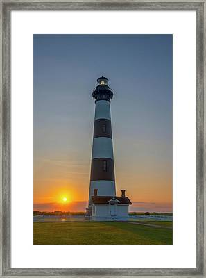 Framed Print featuring the photograph Bodie Island, Sunrise, Obx by Cindy Lark Hartman