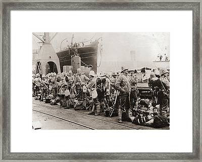Boer War Troops Framed Print by Paul Thompson/fpg