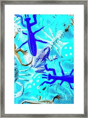 Bohemian Blue Framed Print
