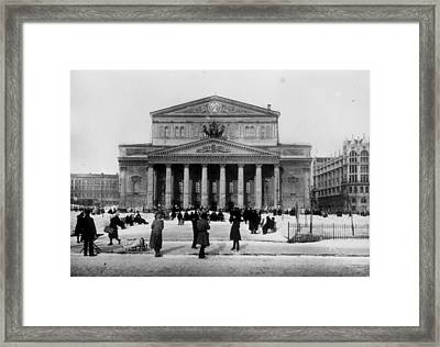 Bolshoi Theatre Framed Print by Hulton Archive